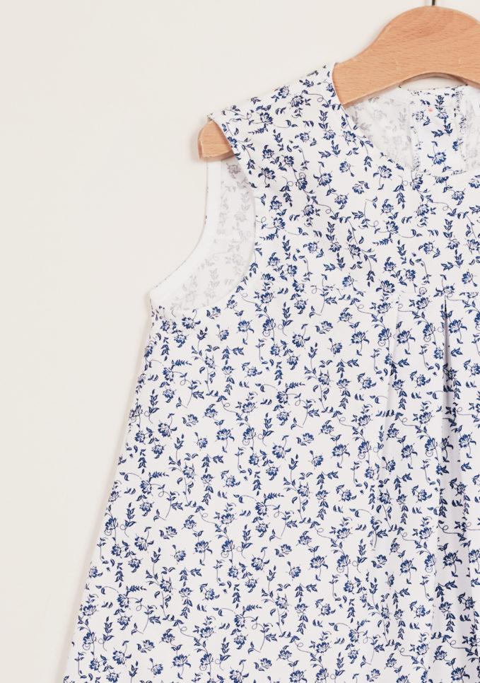 DEPETIT - Girl's floral-print cotton dress
