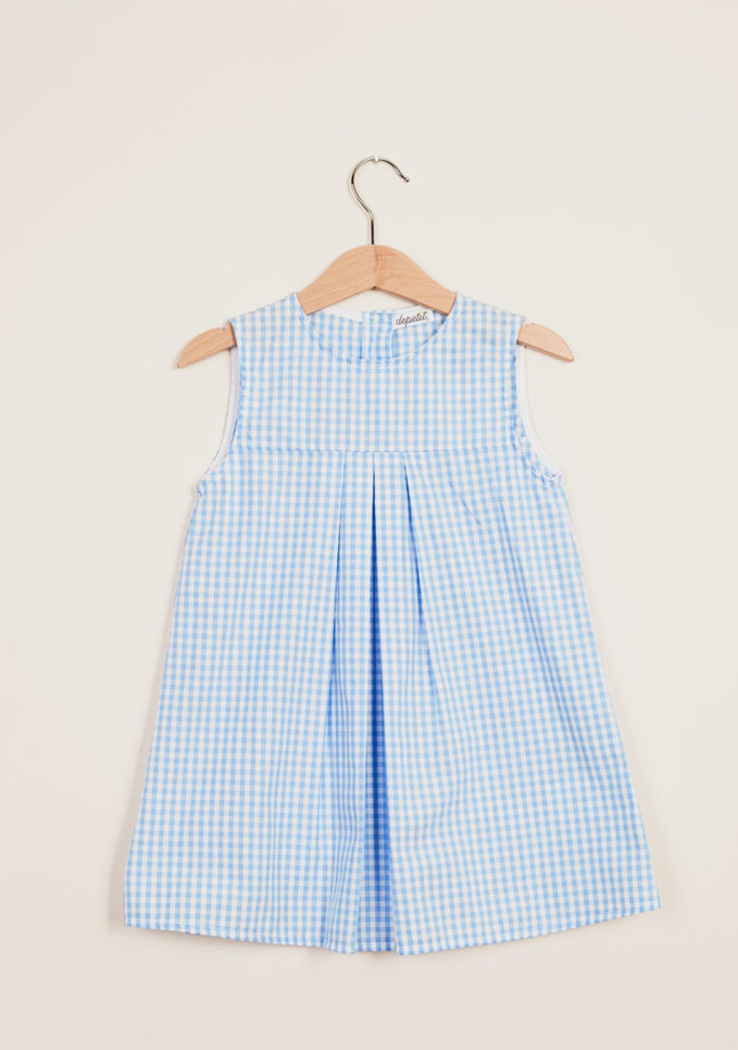 DEPETIT - Girl's gingham cotton dress