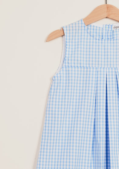 DEPETIT - Girl's gingham cotton dress