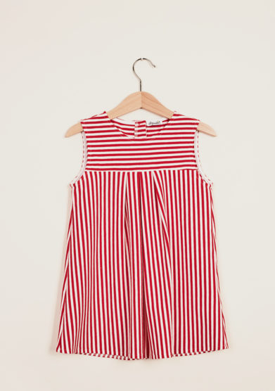 DEPETIT - Girl's striped cotton dress