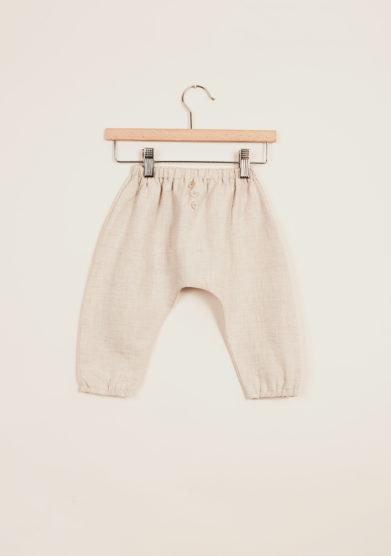 DEPETIT - Baby linen pants in beige