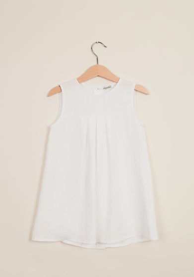 DEPETIT - White cotton dress