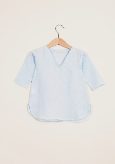 DEPETIT - Baby light blue linen blouse