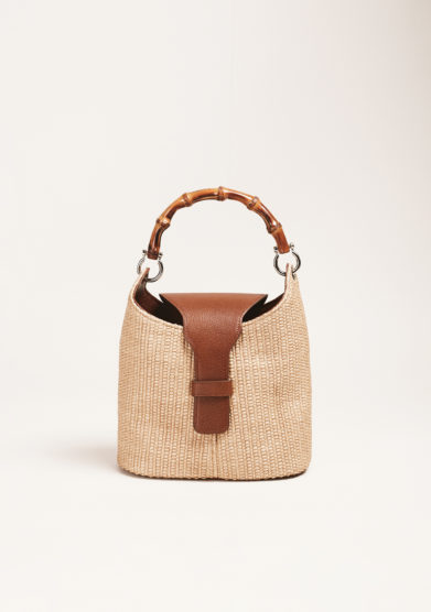 DOC - Raffia and bamboo bag