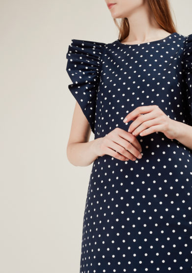 ALBERTA FLORENCE - Polka-dot cotton minidress