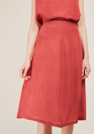 SANFELICE CASHMERE - Printed silk midi skirt