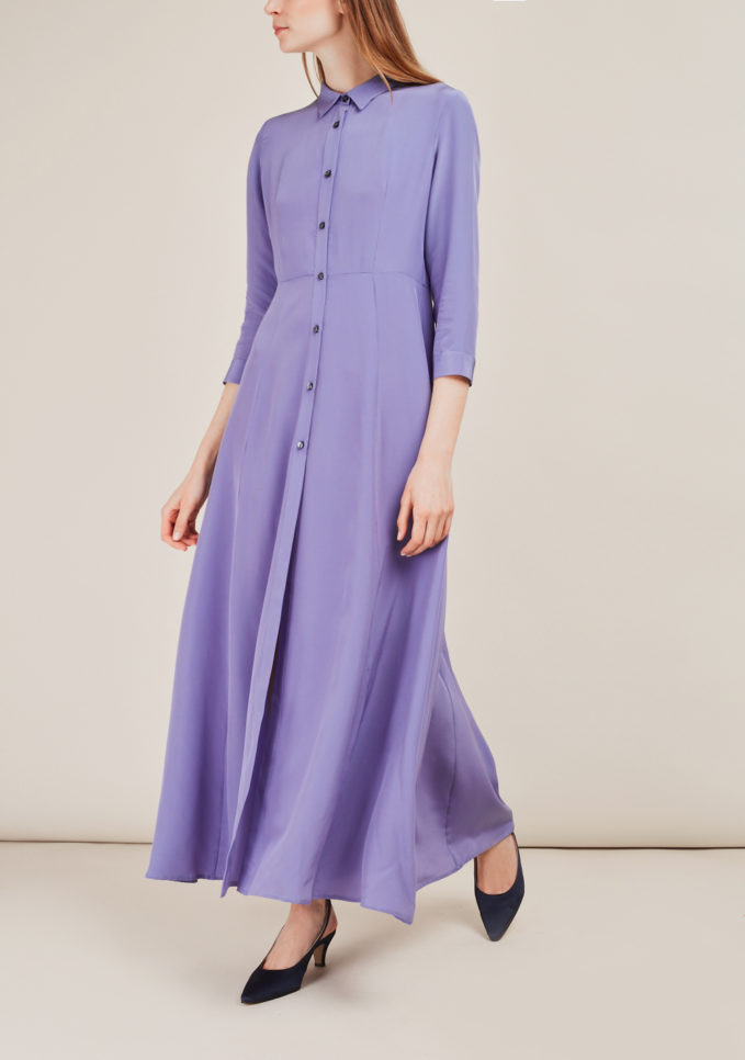 ATELIER. C - Silk shirt dress