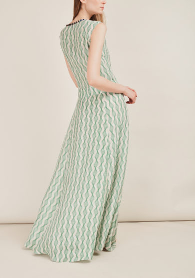 SANFELICE CASHMERE - Printed long silk dress