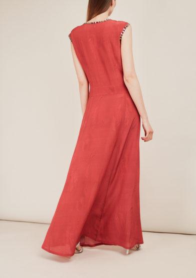 SANFELICE CASHMERE - Printed long silk dress