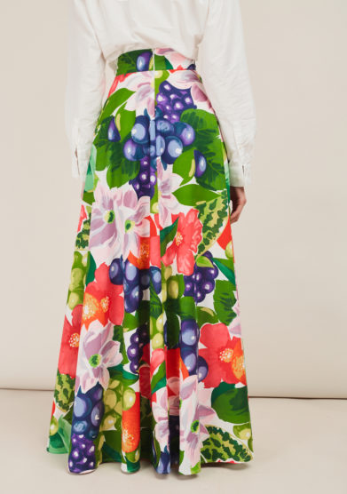 ALBERTA FLORENCE - Printed cotton maxi skirt