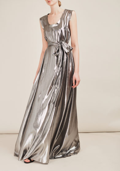 ATELIER. C - Metallic silk dress