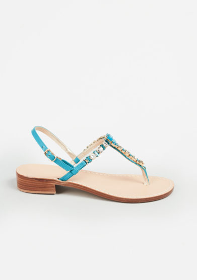 MARIO D'ISCHIA - Crystal embellished sandals