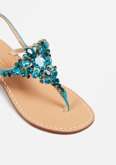 MARIO D'ISCHIA - Crystal embellished sandals