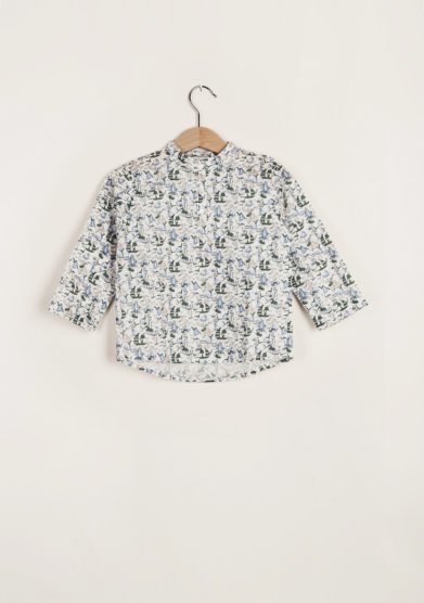 M. FERRARI - Print cotton shirt