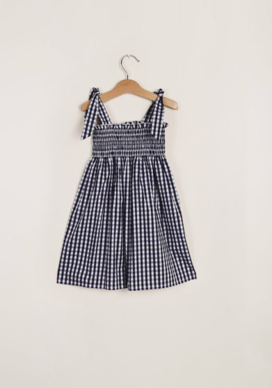 M. FERRARI - Girl's gingham cotton dress