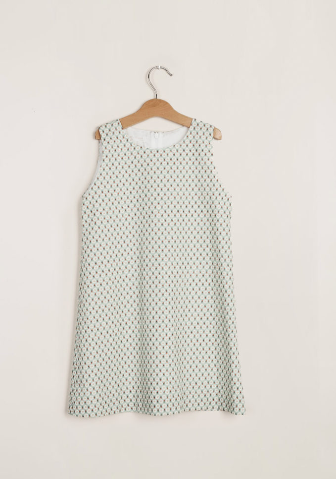 M. FERRARI - Girl's trapeze dress
