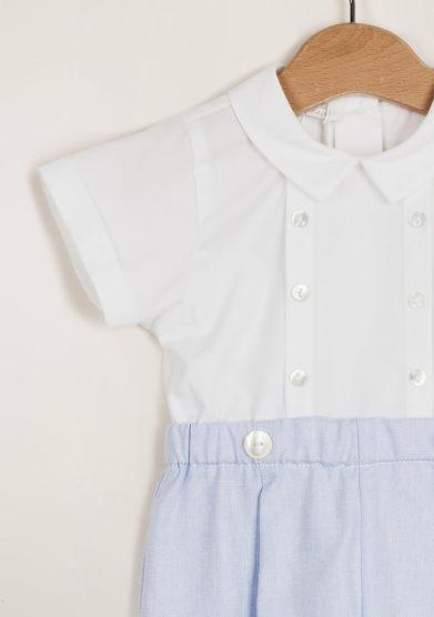 M. FERRARI - Baby cotton playsuit