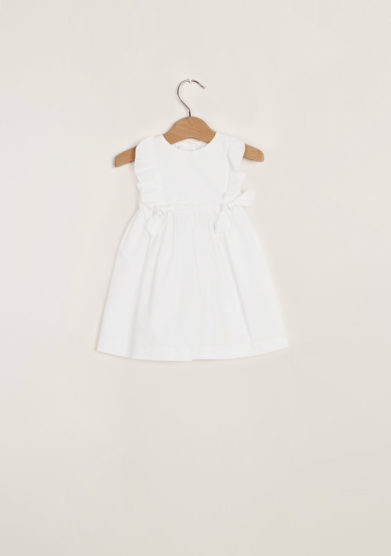 M. FERRARI - Girl's cotton dress with frills