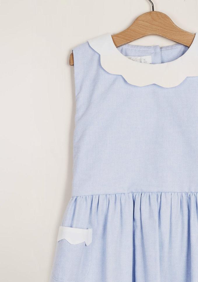 M. FERRARI - Girl's Oxford petal dress