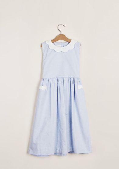 M. FERRARI - Girl's Oxford petal dress