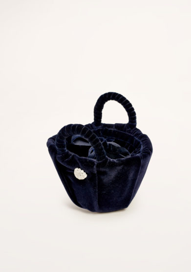 PESCEPAZZO - Dark blue velvet sicilian coffa