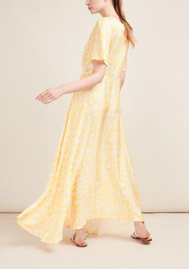 Gioia bini abito lungo fantasia giallo