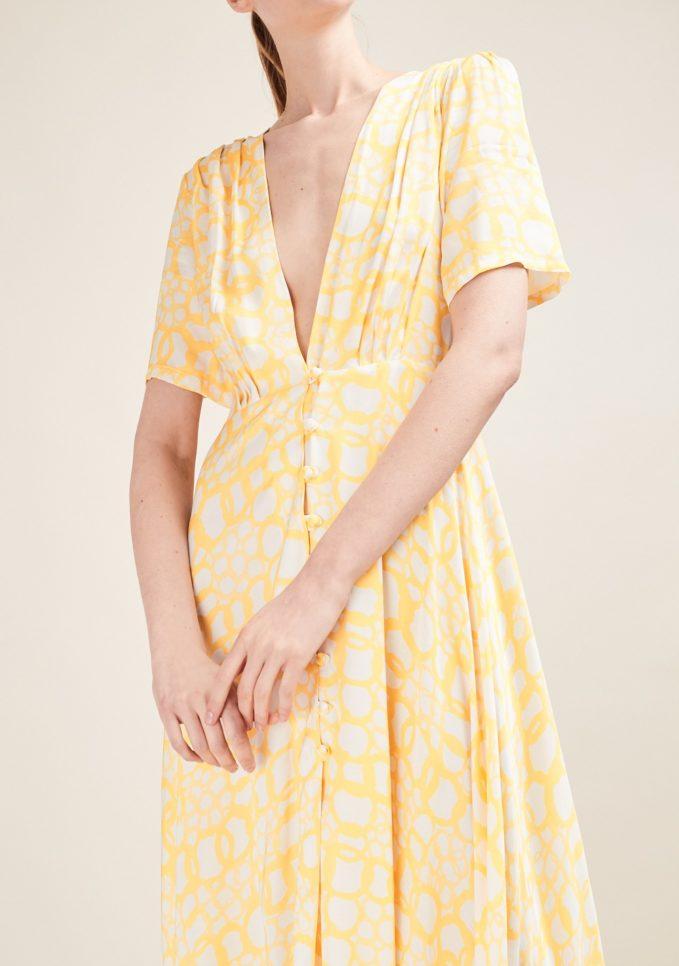 Gioia bini abito mezza manica giallo fantasia