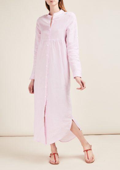 Gioia bini abito chemisier lino lilla
