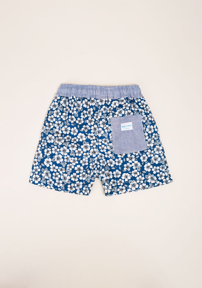 MAGHI E MACI - Boy's flower print swimshorts
