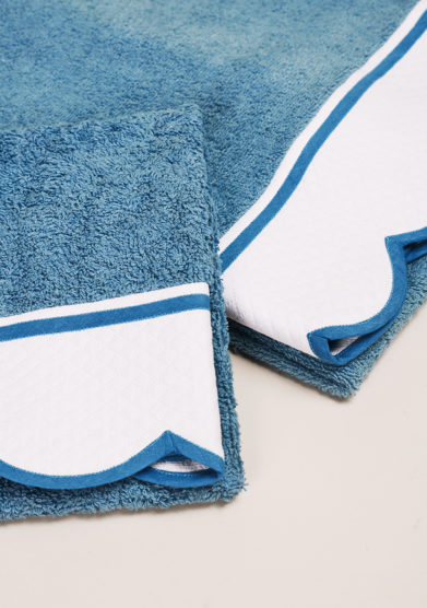 BARONI- Blue green pure cotton hand-towel set