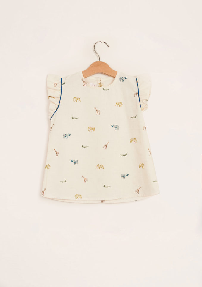 I MARMOTTINI - Girl's printed cotton top