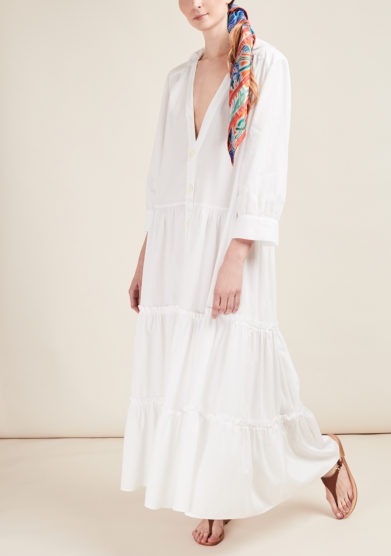 CAFTANII FIRENZE - Alice cotton maxi dress