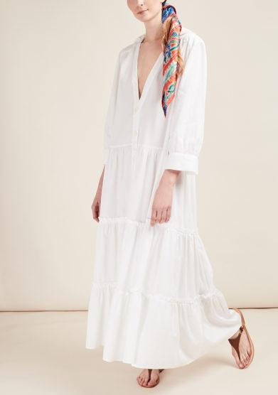 CAFTANII FIRENZE - Alice cotton maxi dress