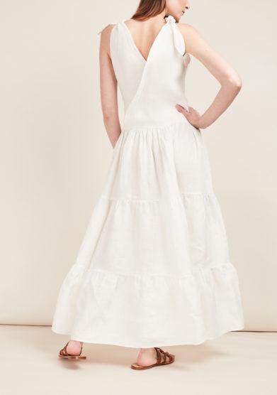 CAFTANII FIRENZE - Alice cotton nodo dress