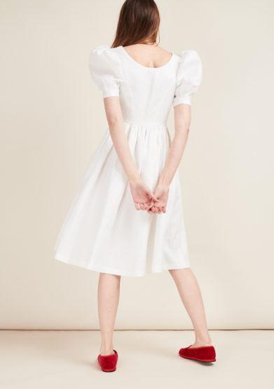 GIOIA BINI - White midi linen dress