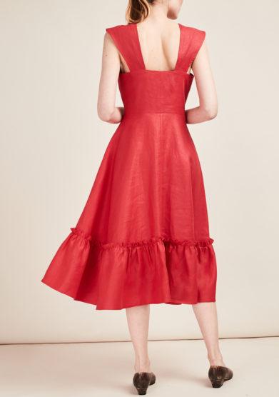 GIOIA BINI - Camilla ruffle-trimmed dress