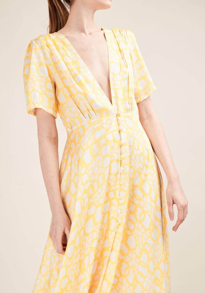 GIOIA BINI - Printed crepe midi dress