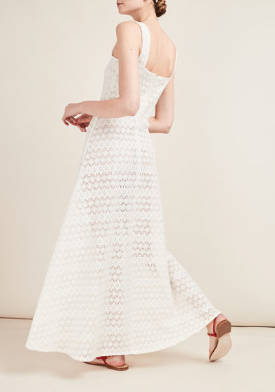 GIOIA BINI - Knit macramé midi dress