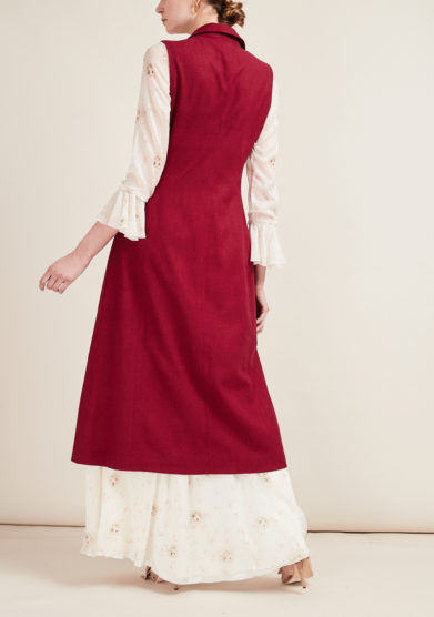 SCILE' - Silk long cherry gillet