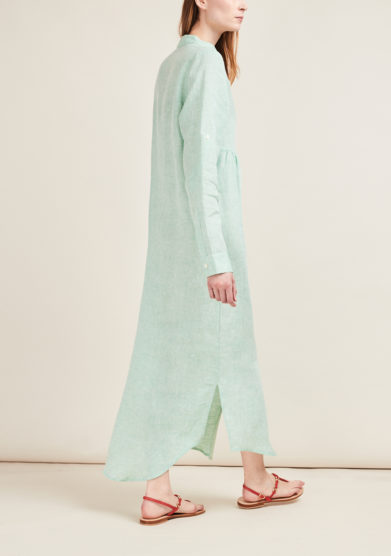 GIOIA BINI - Emma linen mint-green shirtdress