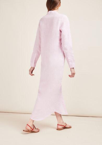 GIOIA BINI - Emma linen lilac shirtdress