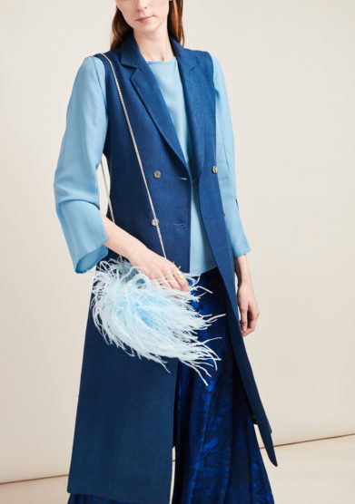 SCILE' - Silk long blue gillet