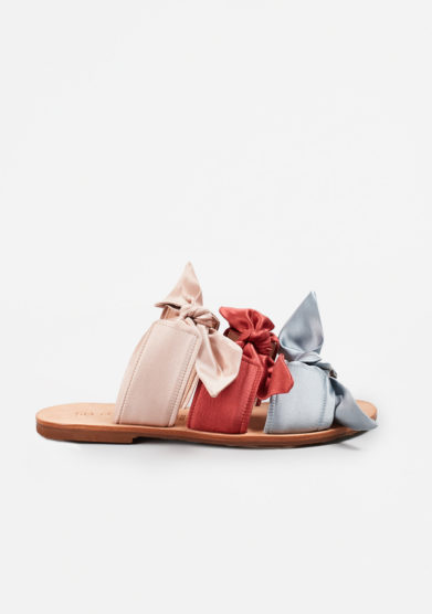 GIA COUTURE - Melissa bows sandals in colorful satin