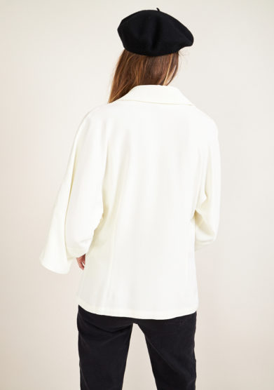 CAFTANII FIRENZE - Celine shirt in natural white satin