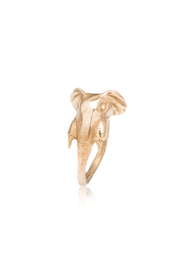 BONA CALVI - Elephant ring in yellow bronze