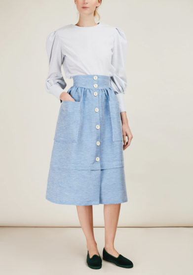 CARLOTTA CANEPA - Midi cotton skirt