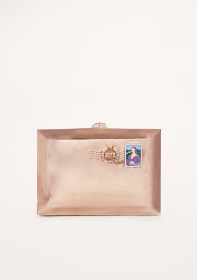 VIRGINIA SEVERINI - Love letter gold pink clutch