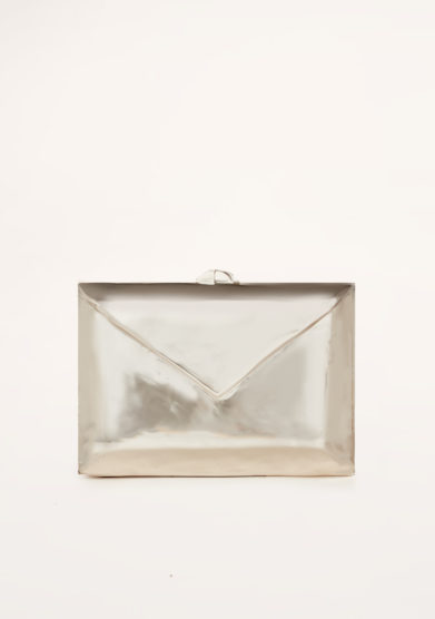 VIRGINIA SEVERINI - Love Letter silver clutch