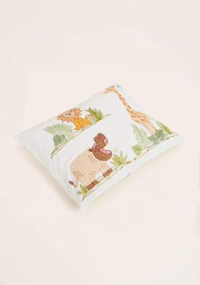 LORETTA CAPONI - Cushion with jungle embroidered