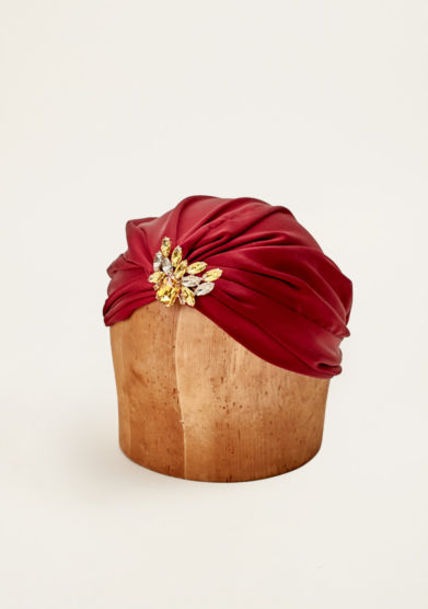 MARZOLINE - Crystal-embellished silk turban